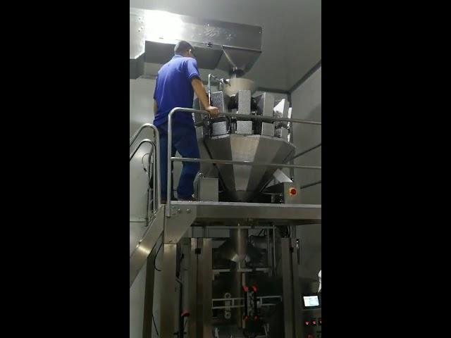 China bocadillos de comida automática azucre polvo de polvo de semillas en polvo máquina de envasado vertical
