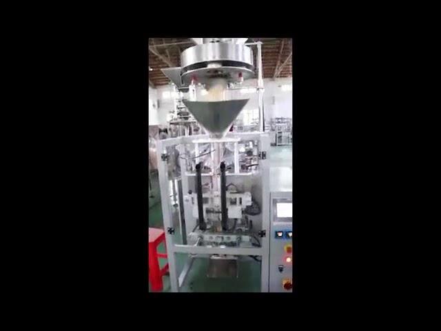 Dosificación por tazas de relleno volumétricas Lentejas Máquina de envasado de arroz de azucre Forma vertical de recheo