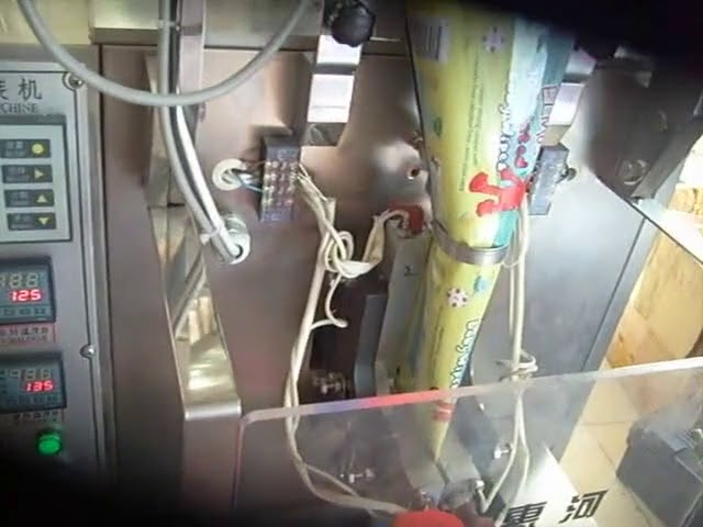 Máquina de envasado en po de pequenos sacos
