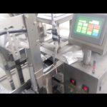 Máquina de envasado de recheo de sachet en po de pequena escala vertical